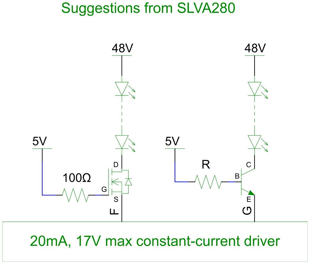 SLVA280 suggested buffers